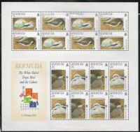 Bermuda SG MS856 2001 Endangered Species. Bird Conservation Miniature Sheet unmounted mint
